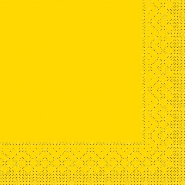 Serviette Gelb aus Tissue 33 x 33 cm, 20 Stück