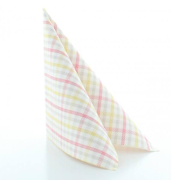 Serviette Emil in rosa aus Linclass® Airlaid 40 x 40 cm, 50 Stück