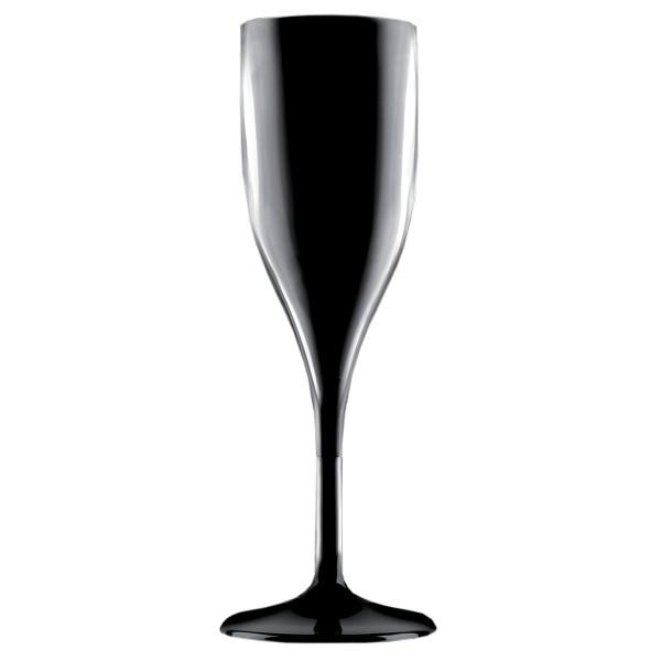 Mehrweg-Sektglas aus SAN, Schwarz, 150ml, 1 Stück