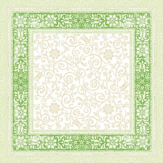 Tischdecke Lara in grün aus Linclass® Airlaid 80 x 80 cm, 20 Stück