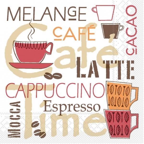 Serviette Cafe Latte aus Tissue 33 x 33 cm, 100 Stück