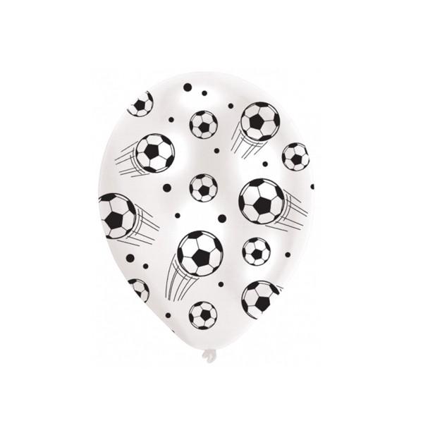 Luftballons Fußball, 27,5cm, 6 Stück