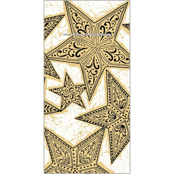 Besteckserviette Gitte in Gold-Schwarz aus Linclass® Airlaid 40 x 40 cm, 100 Stück