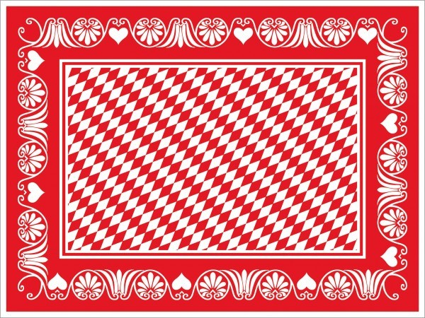 Tischset Bavaria in rot aus Linclass® Airlaid 40 x 30 cm, 100 Stück