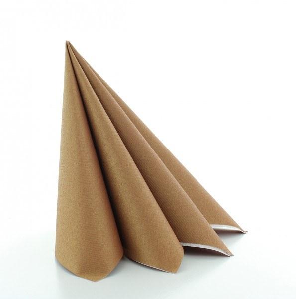 Serviette in Bronze aus Linclass® Airlaid 40 x 40 cm, 50 Stück