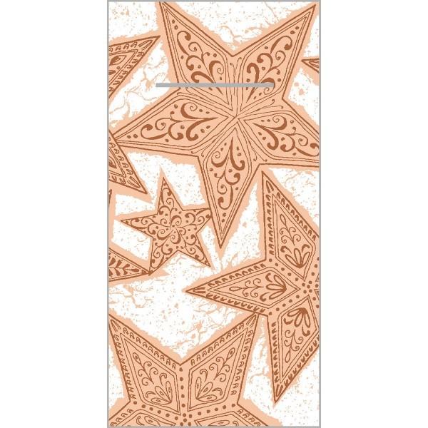 Besteckserviette Gitte in Zimt aus Linclass® Airlaid 40 x 40 cm, 100 Stück