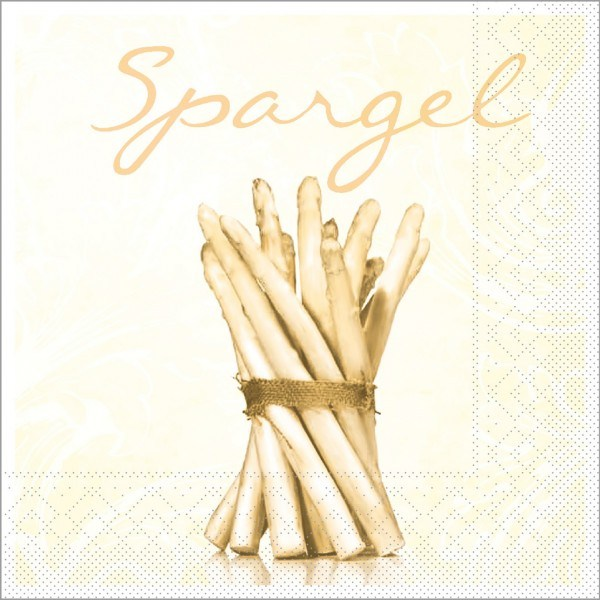 Serviette Spargel in Creme aus Tissue 40 x 40 cm, 100 Stück