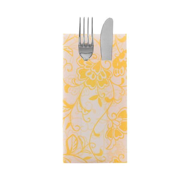 Besteckserviette Liv in creme-gelb aus Linclass® Airlaid 40 x 40 cm, 100 Stück