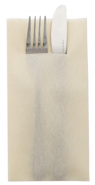 Besteckserviette Creme aus Linclass® Airlaid 40 x 40 cm, 100 Stück