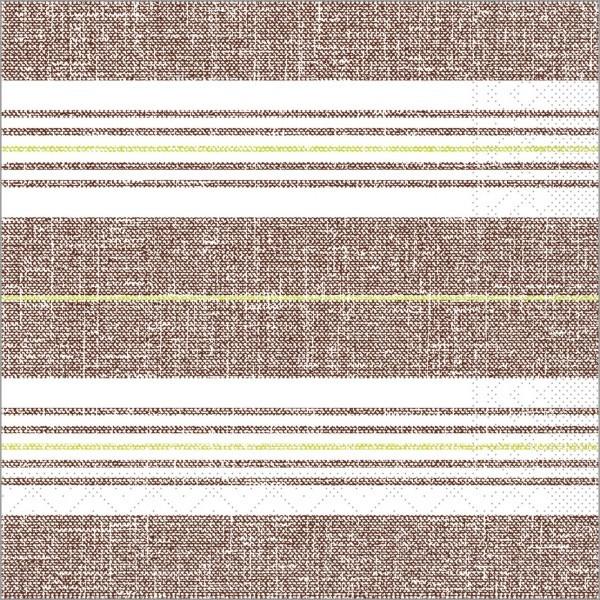 Serviette York in kiwi-braun aus Tissue 40 x 40 cm, 100 Stück