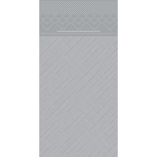 Besteckserviette Grau aus Tissue Deluxe® 40 x 40 cm, 75 Stück