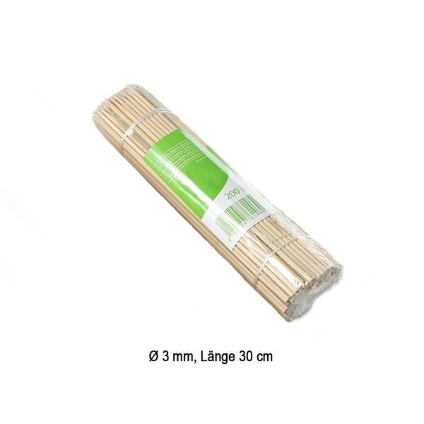 Spieße aus Bambus, Ø 3 mm / 30 cm, 200 Stück