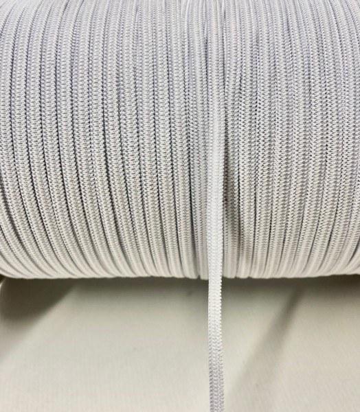 (DIYS) 300m elastisches Gummiband auf Rolle in Weiss, 3mm - 1 Stück