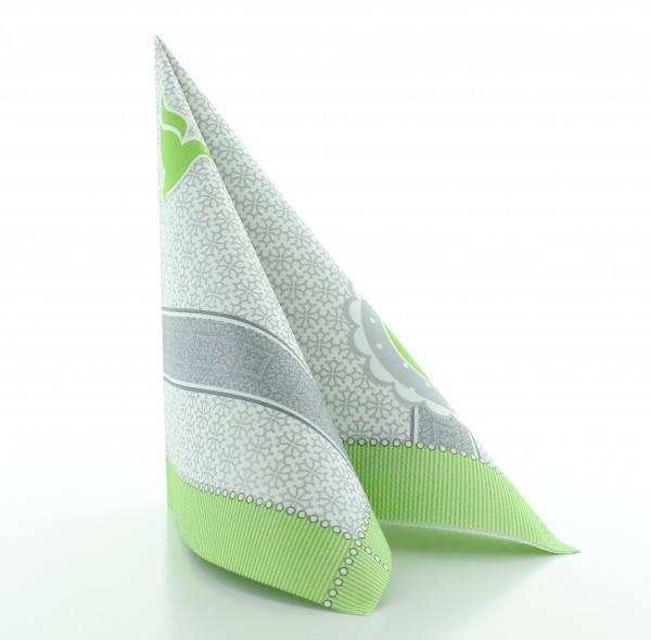 Serviette Kelch-Taube in grün aus Linclass® Airlaid 40 x 40 cm, 50 Stück