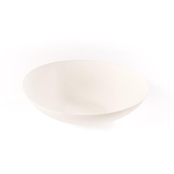 Teller aus Zuckerrohr in Weiss, tief, rund, Ø 200 x h 49 mm, 20 Stück
