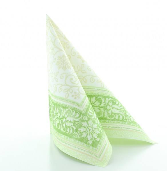 Serviette Lara in grün aus Linclass® Airlaid 40 x 40 cm, 50 Stück