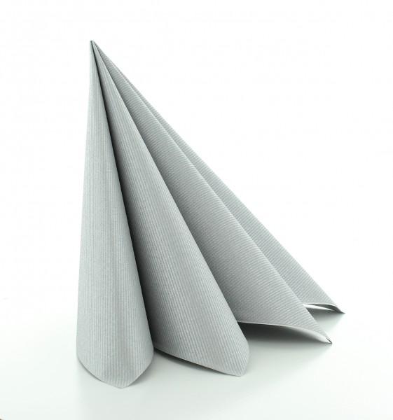 Serviette Silber aus Linclass® Airlaid 40 x 40 cm, 12 Stück