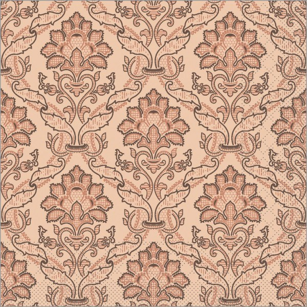 Serviette Cleve in braun aus Tissue 40 x 40 cm, 100 Stück