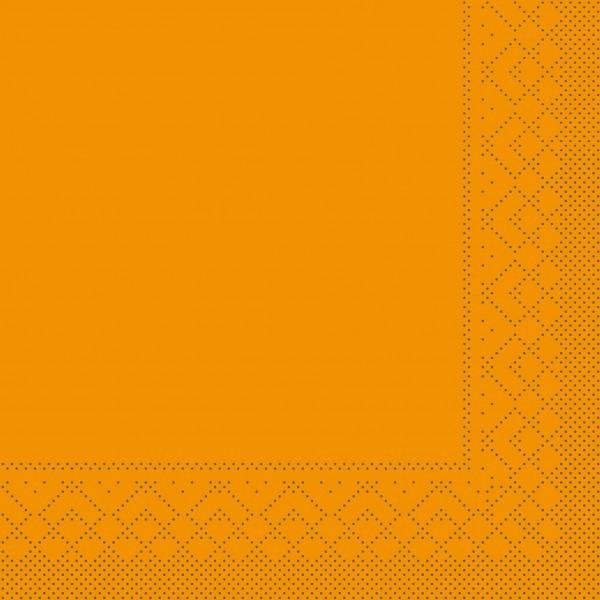Serviette Curry aus Tissue 33 x 33 cm, 20 Stück