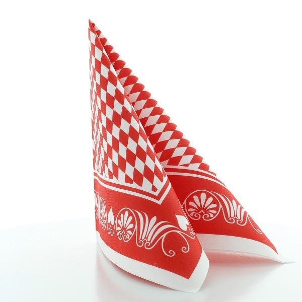 Serviette Bavaria in rot aus Linclass® Airlaid 40 x 40 cm, 50 Stück