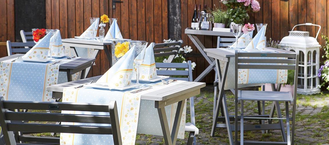 1 S Tischläufer Hochzeits-Streifen in Rose aus Linclass® Airlaid 40 cm x 4,80 m