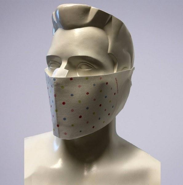 Sovie Care Einweg Behelfs- Mund- und Nasenmaske M2 Elfi aus Linclass-Vlies - 60 Stück - Masken