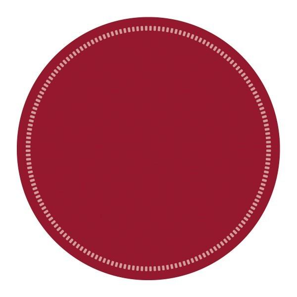 Tassen-Deckchen Basics Bordeaux aus Tissue 9-lagig, Ø 90 mm, 250 Stück