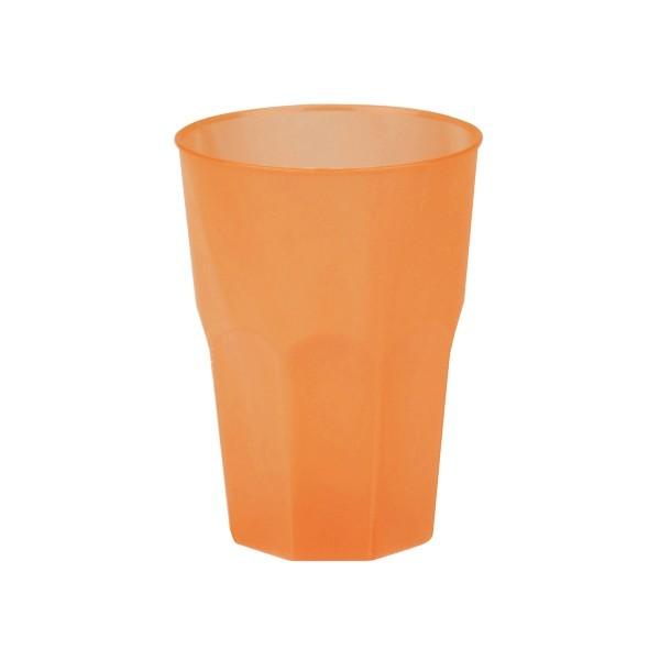 Mehrweg-Cocktailglas aus Plastik, Orange-gefrostet, 420ml, 6 Stück