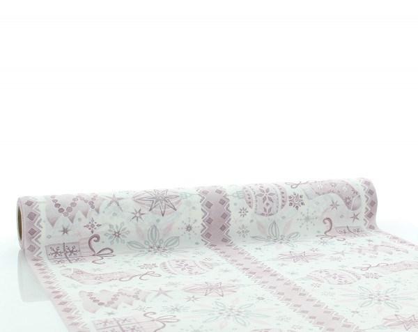 Tischläufer Jolina in Pflaume aus Linclass® Airlaid 40cm x 4,80m, 1 Stück