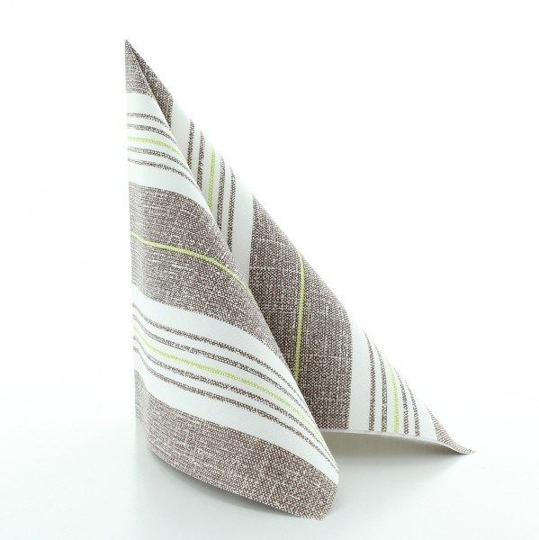Serviette York in kiwi-braun aus Linclass® Airlaid 40 x 40 cm, 50 Stück