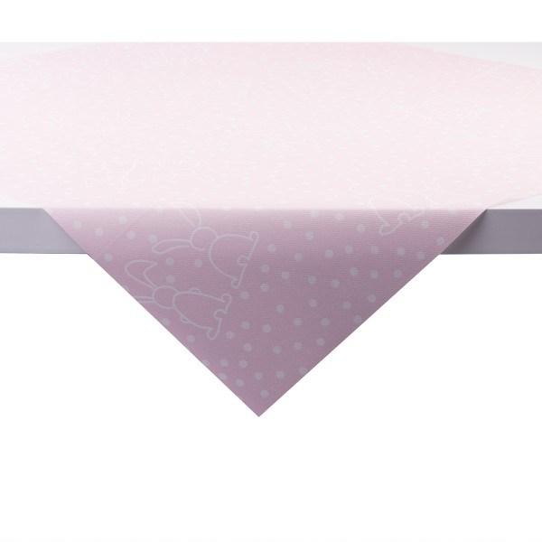 Tischdecke Rabbits in Rosa aus Linclass® Airlaid 80 x 80 cm, 1 Stück