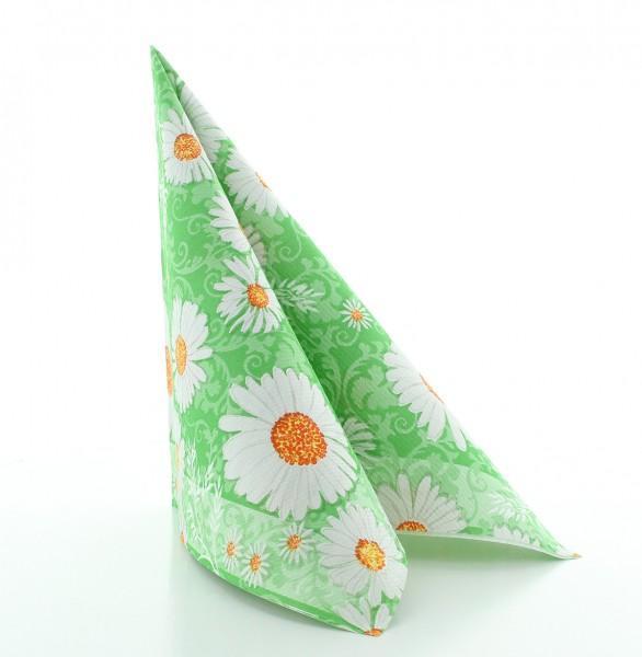 Serviette Lissy in grün aus Linclass® Airlaid 40 x 40 cm, 50 Stück