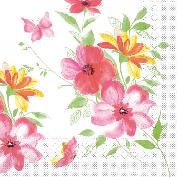 Serviette Irene aus Tissue 33 x 33 cm, 20 Stück