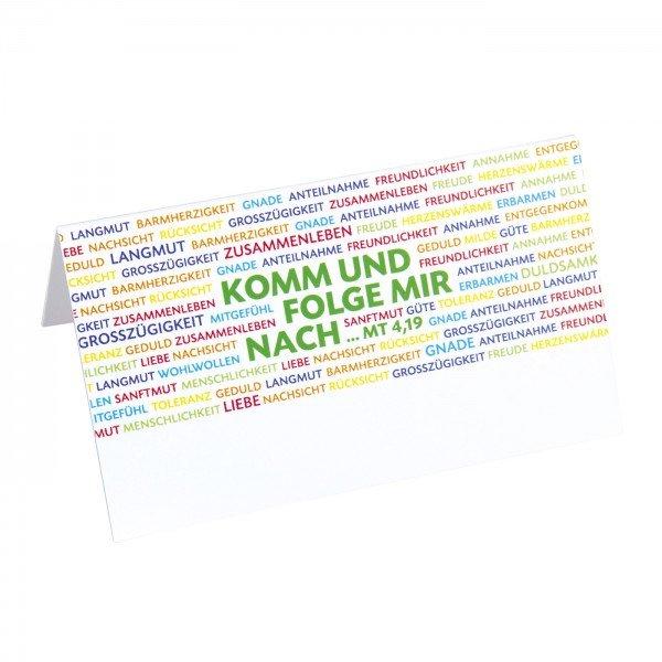 Platzkarten NACHFOLGE, 9,5 x 5,5 cm, 12 Stück