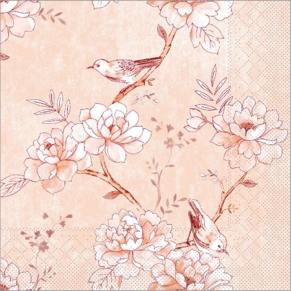 Serviette Maylin in aprikot aus Tissue 33 x 33 cm, 100 Stück