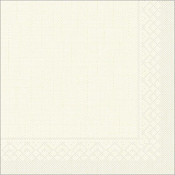 Serviette Mailand in beige aus Tissue 33 x 33 cm, 100 Stück