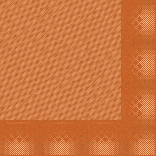 Serviette Terrakotta aus Tissue Deluxe®, 4-lagig, 40 x 40 cm, 50 Stück