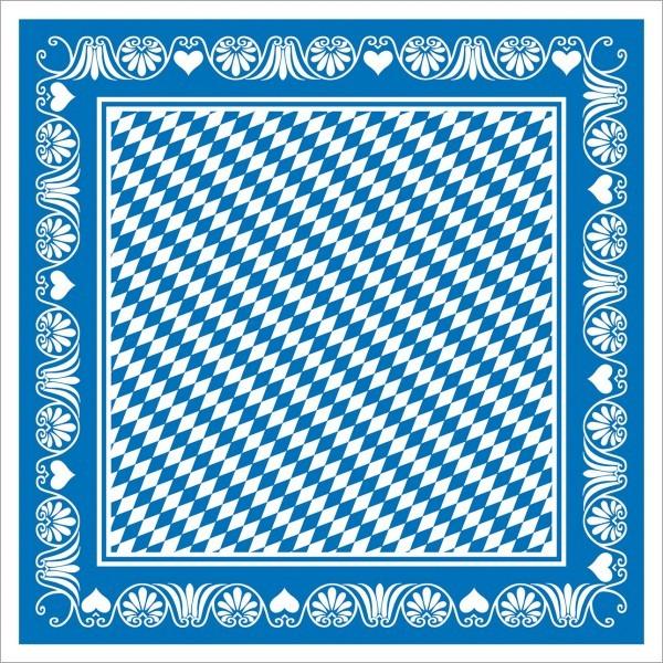 Tischdecke Bavaria in blau aus Linclass® Airlaid 80 x 80 cm, 20 Stück