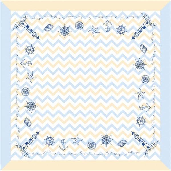 Tischdecke Maritim in blau aus Linclass® Airlaid 80 x 80 cm, 20 Stück