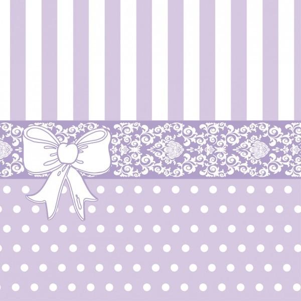 Serviette Bine in Lila aus Linclass® Airlaid 40 x 40 cm, 12 Stück