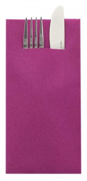 Besteckserviette Violett aus Linclass® Airlaid 40 x 40 cm, 75 Stück