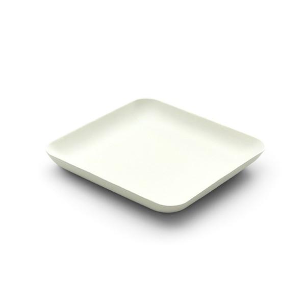 Teller aus Zuckerrohr in Weiss, viereckig, 120 x 120 x h 15 mm, 40 Stück