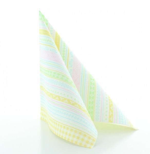 Serviette Babette in pastell aus Linclass® Airlaid 40 x 40 cm, 50 Stück