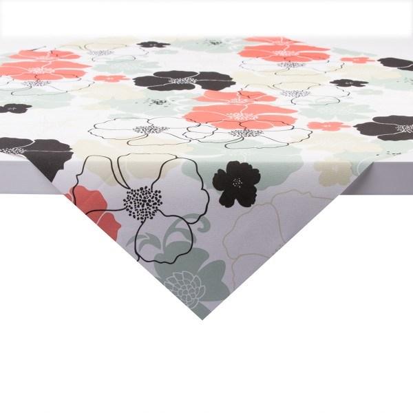 Tischdecke Nora in rot-grau aus Linclass® Airlaid 80 x 80 cm, 20 Stück
