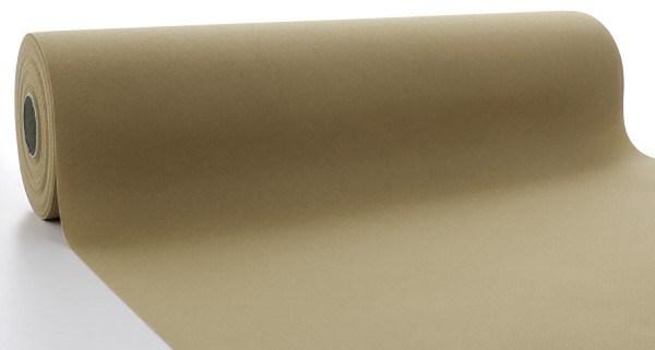 Tischläufer Naturbraun aus Linclass® Airlaid 40 cm x 24 m, 1 Stück