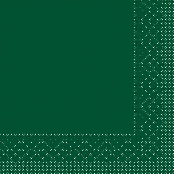 Serviette Dunkelgrün aus Tissue 33 x 33 cm, 20 Stück