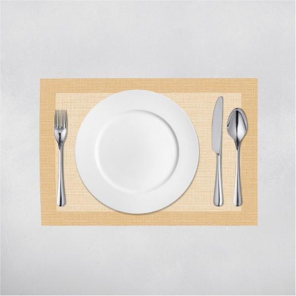 Tischset Mailand in Hellbraun aus Linclass® Airlaid 40 x 30 cm, 100 Stück
