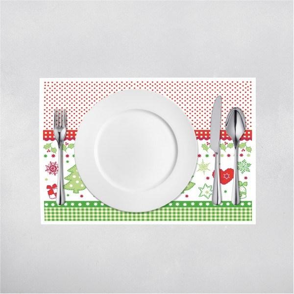 Tischset Christmas in Rot-Grün aus Linclass® Airlaid 40 x 30 cm, 100 Stück