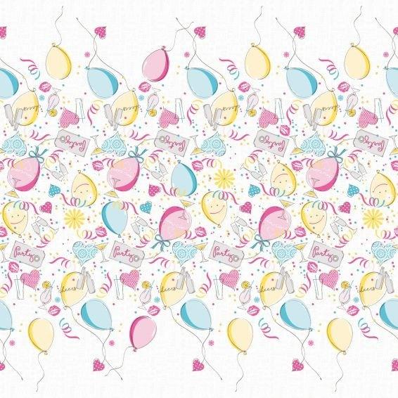 Tischdecke Ballons aus Linclass® Airlaid 80 x 80 cm, 1 Stück