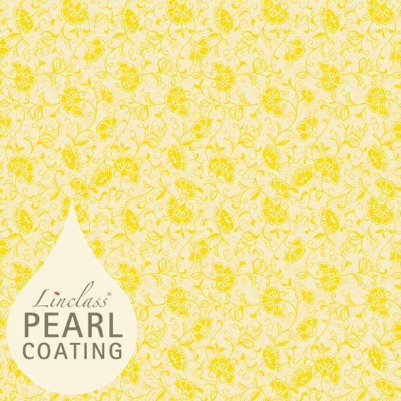 Tischdecke Liv in creme-gelb mit Pearl Coating (wasserabweisend) 80 x 80 cm, 15 Stück